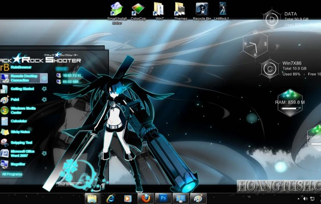 Black-Rock Shooter Style for Windows 7