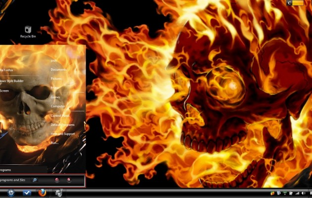 Ghost Rider Visual Style for Windows 7