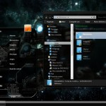 Tema Dark Space Glass Theme