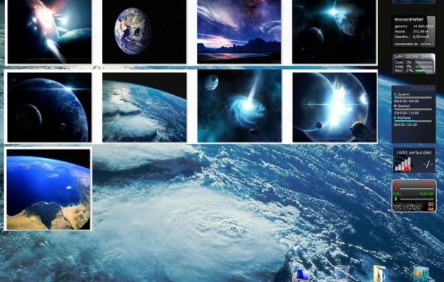 Windows 7 space desktop theme desktop themes - Windows 7 space wallpaper ...