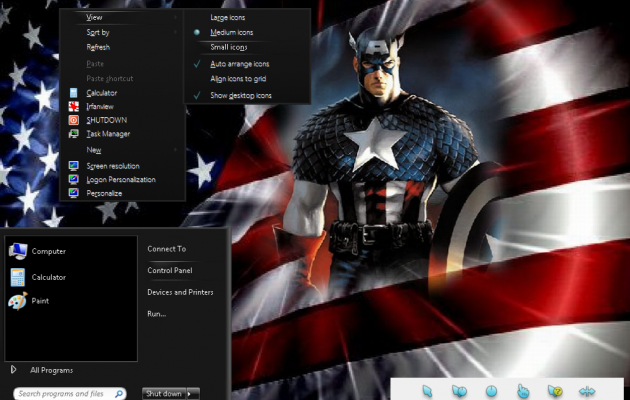Captain America Desktop Theme for Windows 7