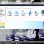 Semi Black Desktop Theme for Windows 7