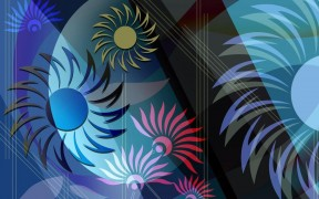 Floral Abstrct Windows 7 Theme