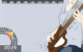 Colorful Guitarist Desktop Style for Win 7