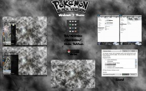 Pokemon Black Windows 7 Theme