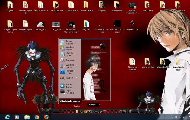 Tema Death Note windows 7