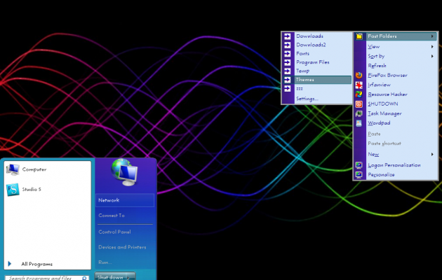 Win7 Color Wall Style