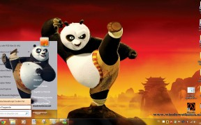 Windows 7 Kung Fu Panda Theme