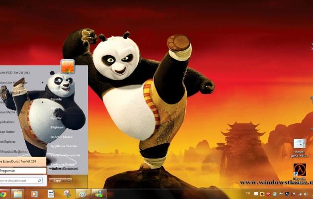 Windows 7 Kung Fu Panda Theme