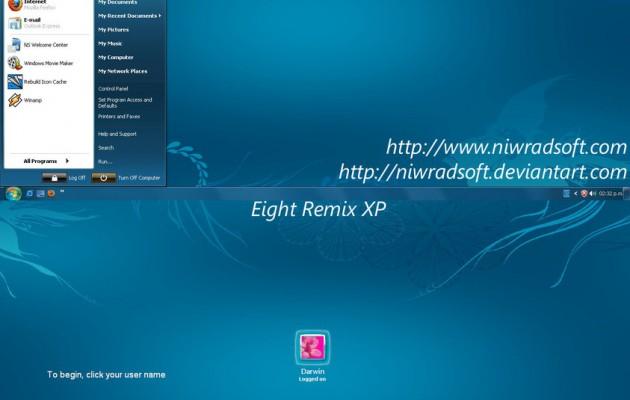 Eight Remix 2.01 XP Theme