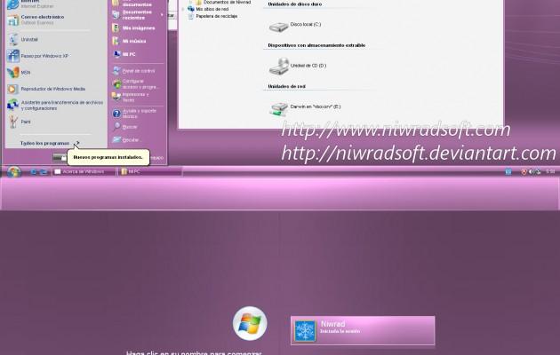 Live Remix 3.0 Pink XP Theme