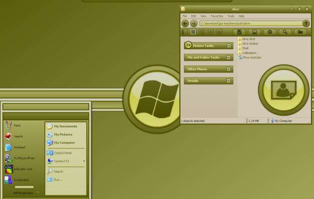 Oliva Theme for windows XP