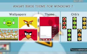 Tema Angry Birds Visual Style for Windows 7