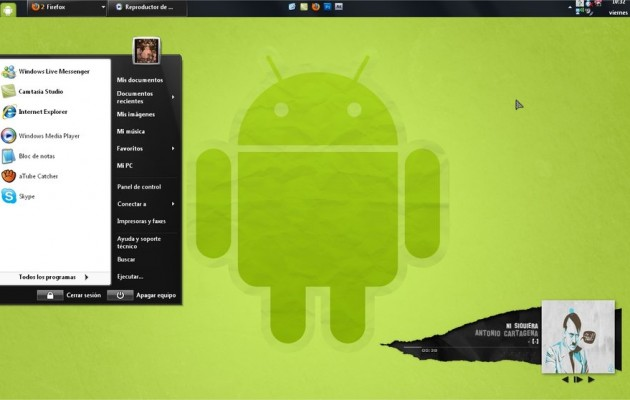 Theme Android for Windows XP