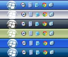 White Flag Orbs Theme for Windows XP