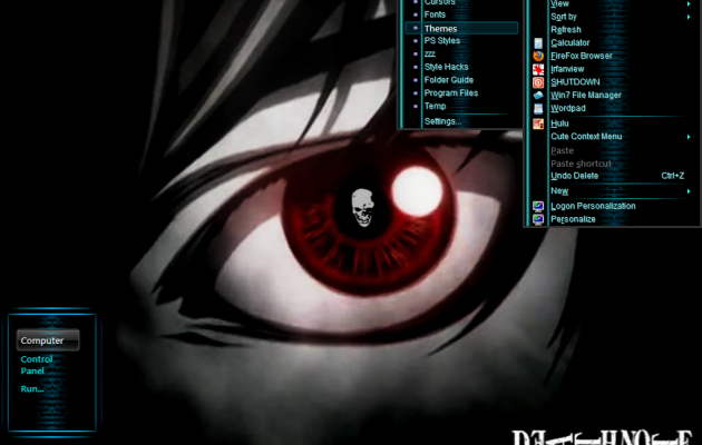 Win7 Basic Mode Theme – Death Note