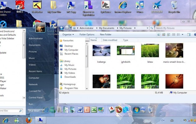 Windows 7 GL-ICY for XP