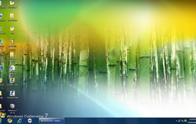 Windows 7 Looks For XP @ Desktop Themes