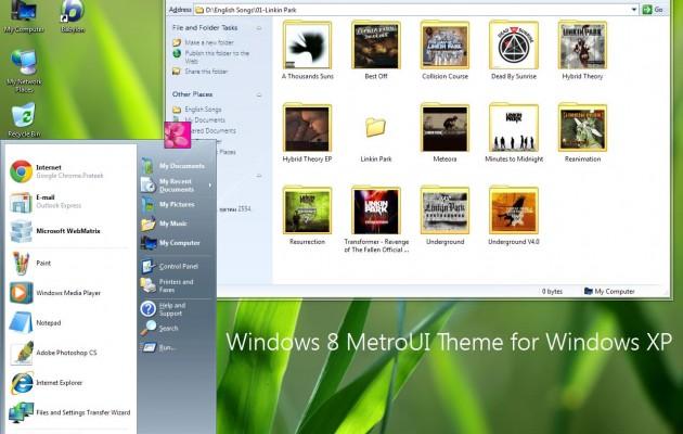 Windows 8 MetroUI theme for xp