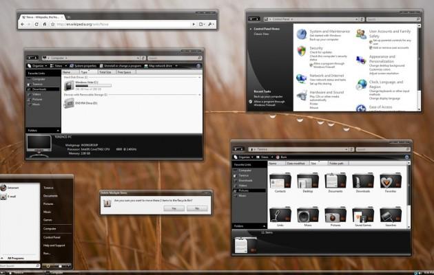 ProjectX 2 Desktop Theme for Vista