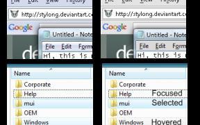 Aero Faded Desktop Theme for Vista