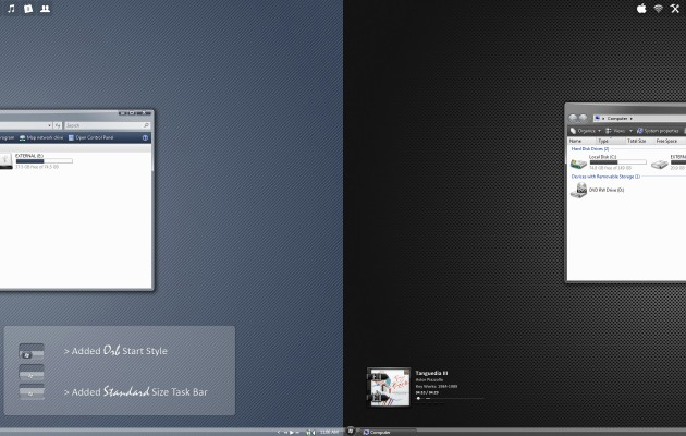 Curved Desktop Theme for Windows Vista