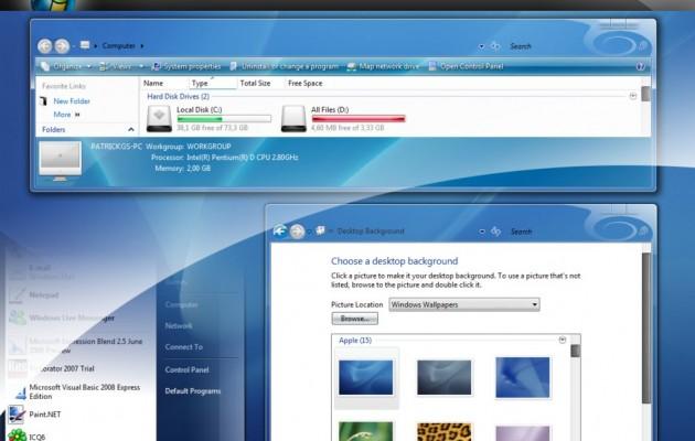ShineVS Desktop Theme for Windows Vista