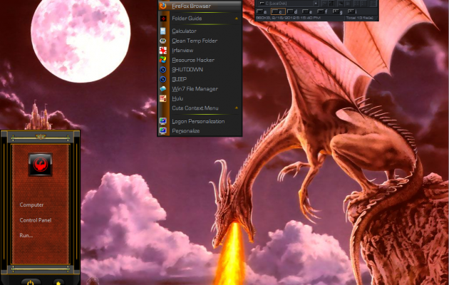 Win7 Dragon Theme Automated Installs