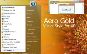 Aero Gold XP Theme