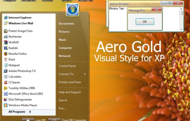 Aero Gold XP Theme