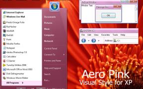 Aero Pink XP Theme