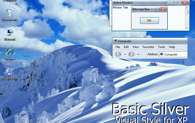 Basic Silver XP Theme