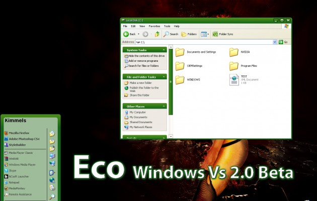 Eco Green v2.0 XP Theme