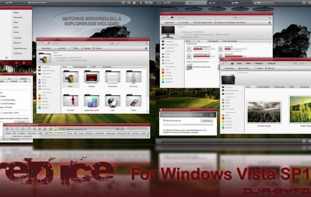 RED ICE VS Desktop Theme for Vista