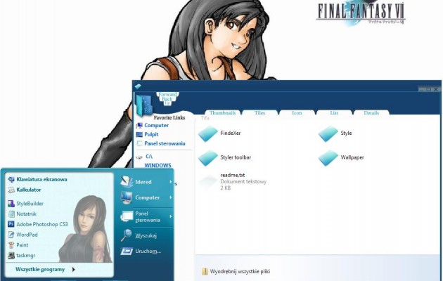 Tifa v2.0 XP Theme