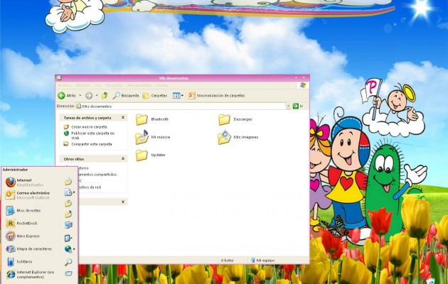 Theme palabritas For XP