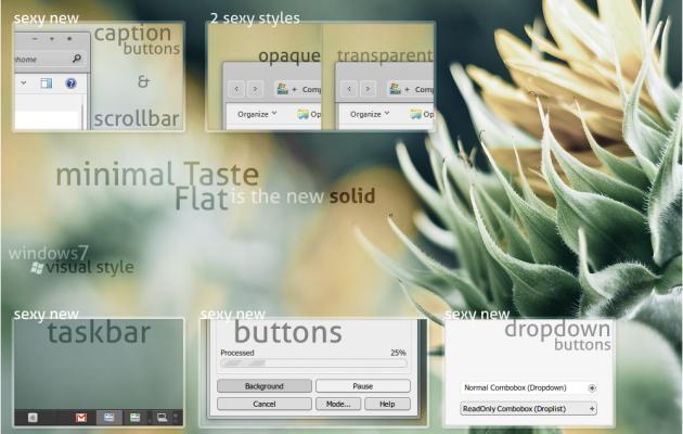 Minimal Taste Flat for Windows7