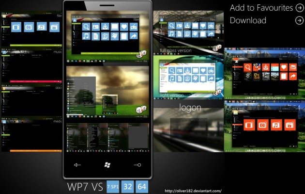 WP7 Mango Desktop Theme for 7